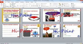 Past Perfect Progressive (Continuous) in Context PowerPoint with Practice