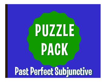 Spanish Past Perfect Subjunctive Puzzle Pack