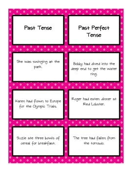 Past Perfect Tense and Past Tense Sort