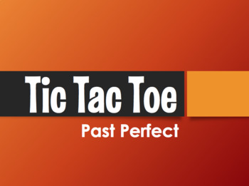 Spanish Past Perfect Tic Tac Toe Partner Game