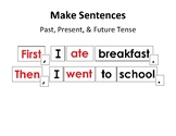 Past, Present, & Future Tense Sentence Building