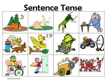 Sentence Tense Past Present Future Activity