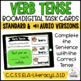 Past, Present, & Future Tense Verb fill in the blanks Boom Cards