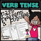 Past, Present, and Future: Verb Tense Worksheets, Cut n' P