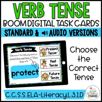 Past, Present, & Future Tense Verb Word Sort Boom Cards