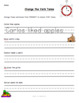 FREEBIE - Past/Present/Future Tense Word Sort and Worksheet