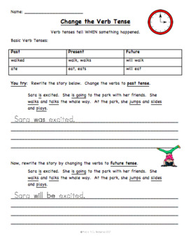 Past, Present, and Future tense word sort and activities - FREE!