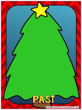 Christmas Activities - Verb Tense Sort Center (Past Present Future)
