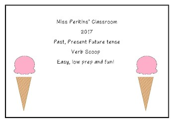 Past Present Future Verb matching game