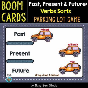 Past, Present & Future: Verbs Sorts | Boom Cards