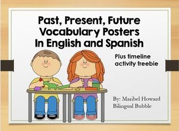Past, Present, Future Vocabulary plus communication timeline