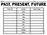 Past, Present, Future (-ed, -ing endings) Worksheet