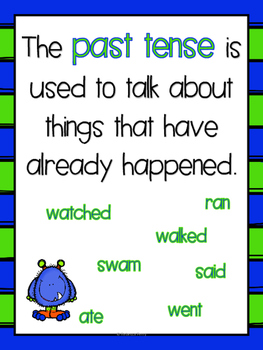 Past & Present Tense, Suffixes - NO PREP - Resources, Worksheets, Centers!
