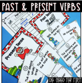 Past & Present Tense Verb Sort ~ Holiday Themed