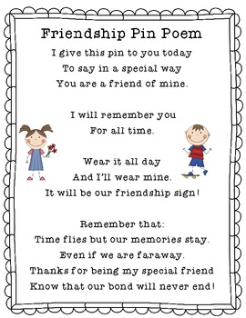 Past, Present, and Future Friendship Pin Poem