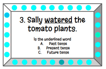 Past, Present, and Future Tense Task Cards