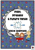 Past, Present and Future Tense Verbs (Regular Irregular) Dice Games