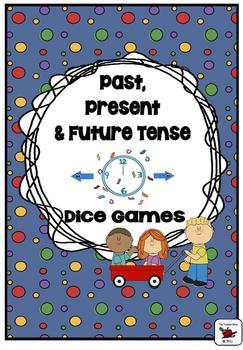 Past, Present and Future Tense Verbs (Regular Irregular) Dice Games