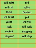 Past, Present, and Future Tense Verbs Word Sort