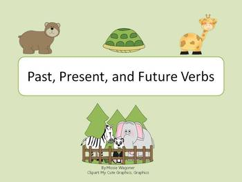 Past, Present, and Future Verbs (Zoo Theme)