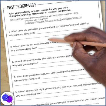 Past Progressive: Grammar Guide with Worksheets