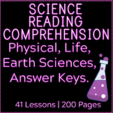 Science Reading Comprehension Passages and Questions | Bundle