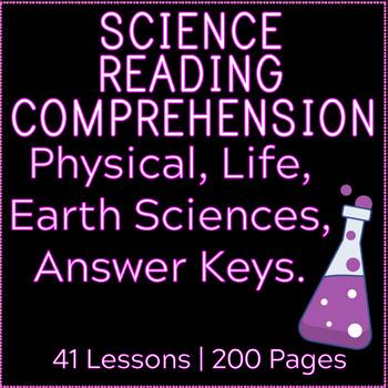 Science Reading Comprehension Passages and Questions | MEGA BUNDLE | Gr3-4