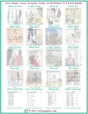 Past Simple Tense-Irregular Verbs 16 Worksheet- 4 Exam Bundle