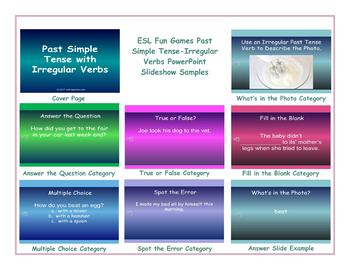 Past Simple Tense-Irregular Verbs PowerPoint Slideshow