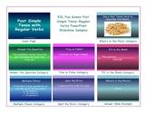 Past Simple Tense-Regular Verbs PowerPoint Slideshow