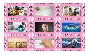 Past Simple Tense with Regular Verbs Legal Size Photo Card Game