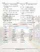 Past Simple Tense with Regular Verbs Word Spiral Spanish Worksheet