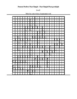 Past Simple and Present Perfect crossword puzzle