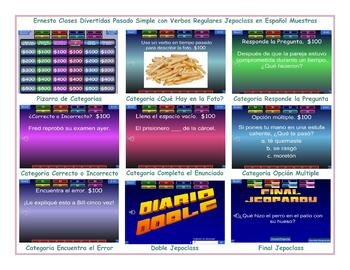 Past Simple with Regular Verbs  Spanish Jeopardy Game