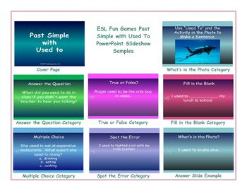 Past Simple with Used To PowerPoint Slideshow
