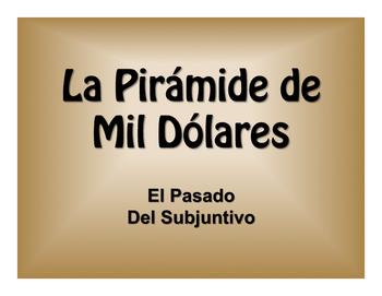 Spanish Past Subjunctive $1000 Pyramid Game
