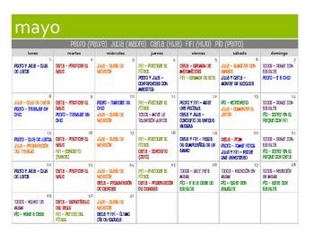Spanish Past Subjunctive Calendar Activity