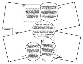 Spanish Past Subjunctive Cartoon Activities