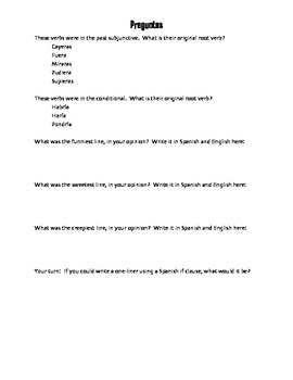 Spanish Past Subjunctive If Clause Choral Reading