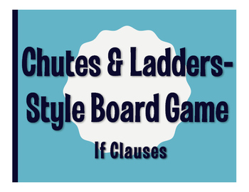 Spanish Past Subjunctive If Clause Chutes and Ladders-Style Game