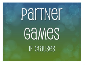 Spanish Past Subjunctive If Clause Partner Games