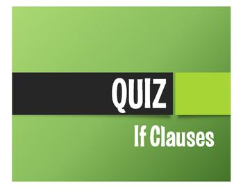 Spanish Past Subjunctive If Clause Quiz