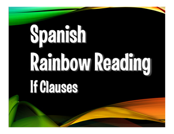 Spanish Past Subjunctive If Clause Rainbow Reading