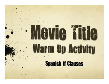 Spanish Past Subjunctive If Clause Movie Titles