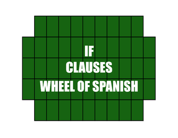 Spanish Past Subjunctive If Clause Wheel of Spanish