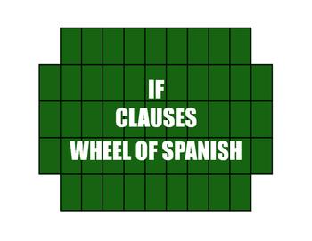 Spanish Past Subjunctive If Clause Wheel of Spanish
