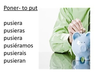 Past Subjunctive/ Imperfect of the Subjunctive Irregular verbs