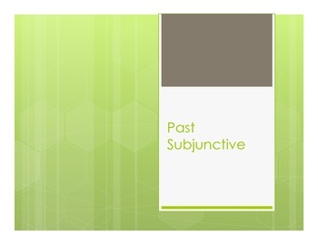 Spanish Past Subjunctive Notes