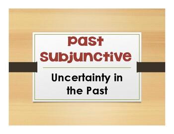 Spanish Past Subjunctive Notes