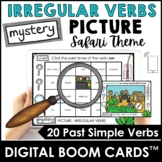 Past Tense Irregular Verbs - Mystery Picture Digital Boom Cards™